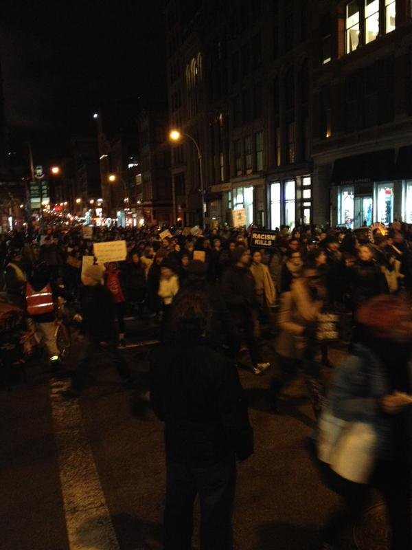 MillionMarchNYC on Broadway right now