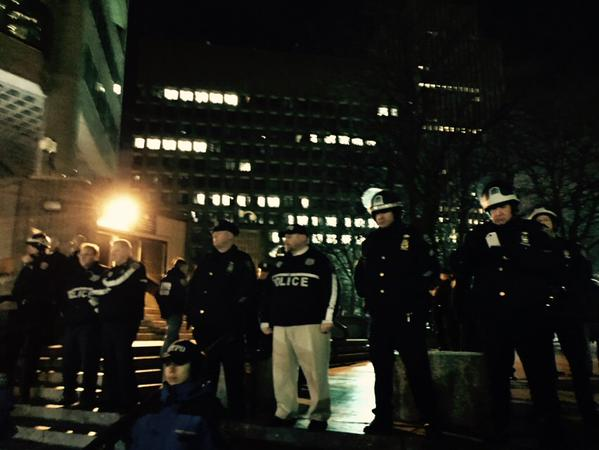 Riot Helmets come out at MillionsMarchNYC NYPD