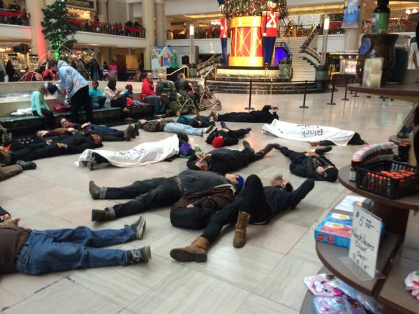 Protests at Tower City Cleveland
