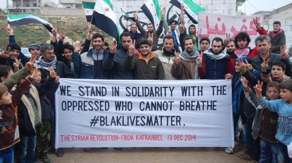 Syrians who are oppressed by ISIS and the Assad regime are standing with ICantBreathe