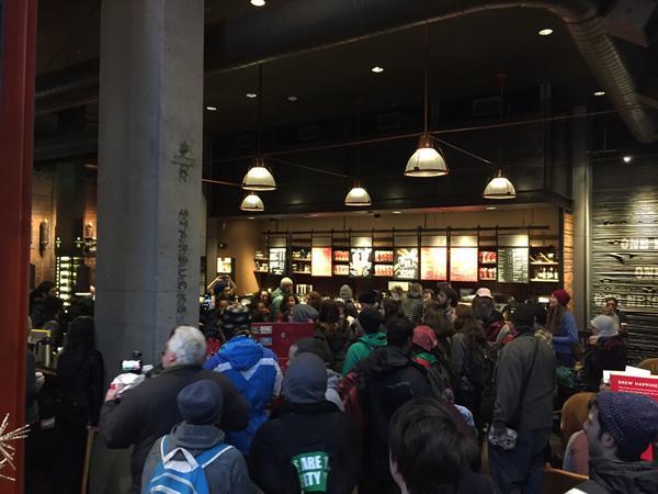 PDX Occupied Starbucks