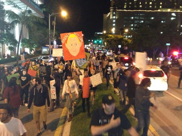 Las Olas Blvd, Fort Lauderdale, FL is shut down
