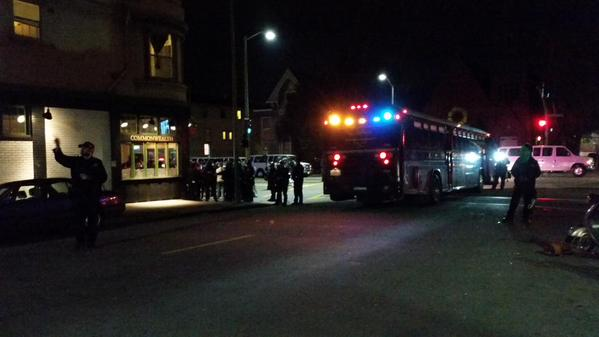 People arrested at Commonwealth Pub on 27th & Telegraph oaklandprotest