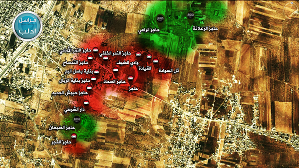 Maraat al-Numan, Idlib: According to JN attackers seized several points in Wadi Al-Deif base today. Ongoing.