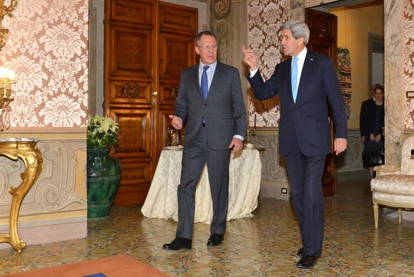 Secretary @JohnKerry met with Russian Foreign Minister Lavrov today in Rome: