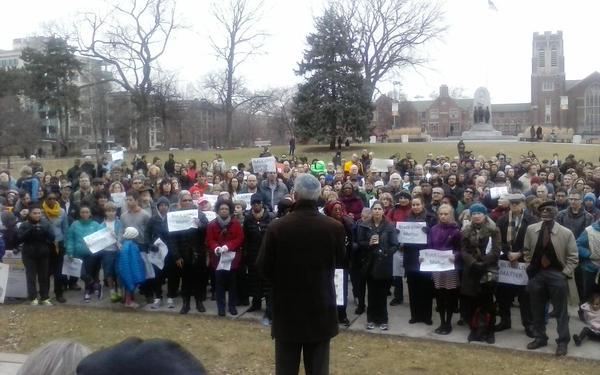 BlackLivesMatter ICantBreathe Oak Park, IL. Rally for justice.
