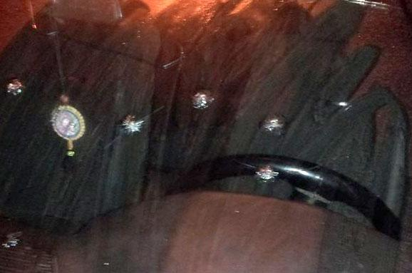 Car of fighters of Aidar was shot in Odessa