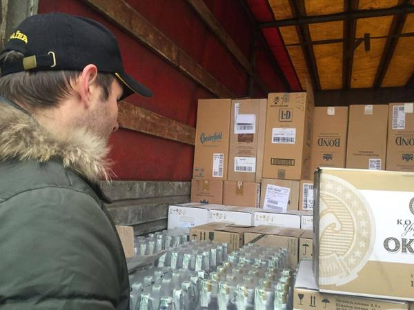 Cargo of Humanitarian vodka for kids from Akhmetov was stopped in Lisichansk