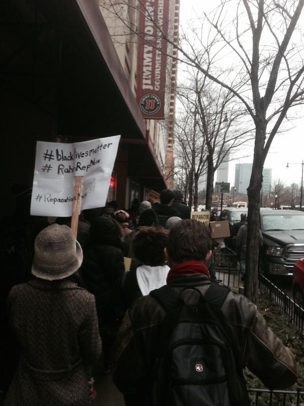 RahmRepNow ShutItDown For John Burge Torture Survivors Marching to Chicago City Hall