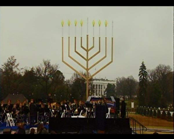 National Menorah, said to be the world's largest, awaits lighting to begin 8 days of Chanukah.