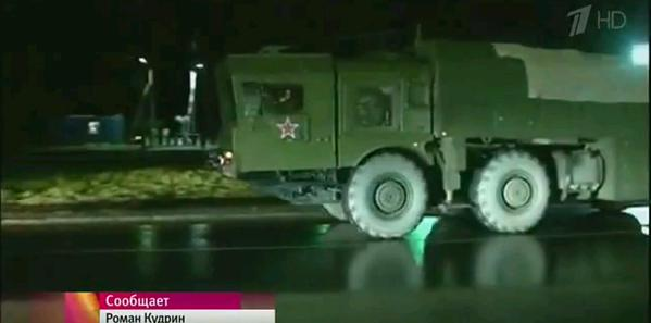Russian 9K720 «Iskander-M» [SS-26 Stone] missile system during recent snap alert exercise in Kaliningrad.