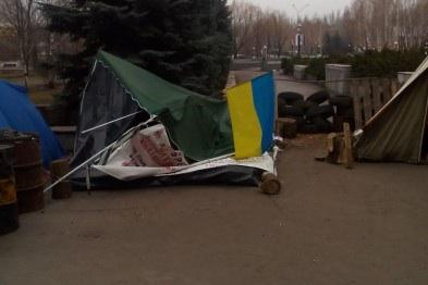 The number of tents near the Executive Committee of the city of Krivyy Rih decreased