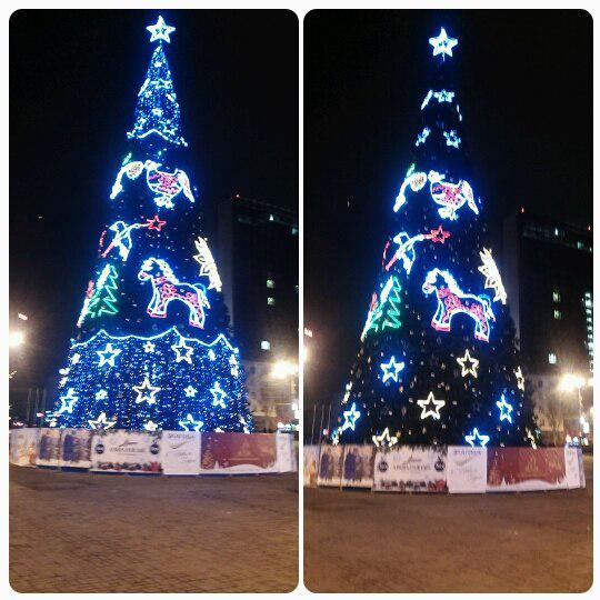 Christmas tree was installed in Donetsk