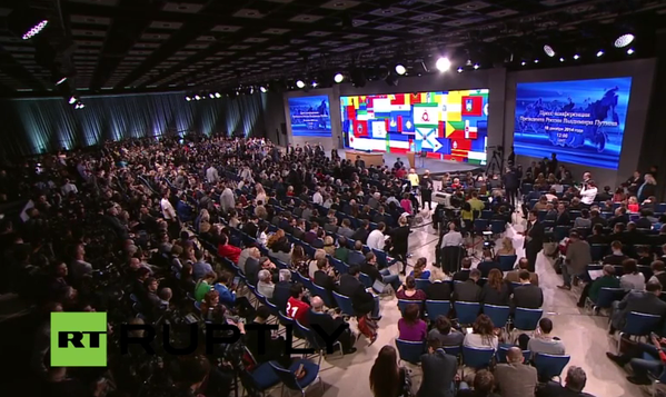President Putin holds his tenth annual news conferencen