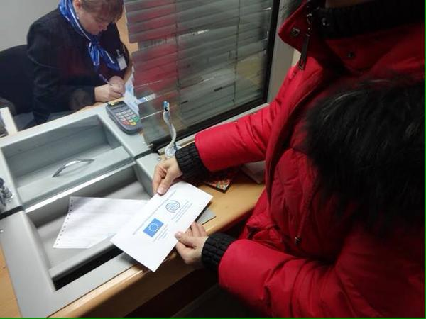 Kharkiv today. The IDPs from the Donbass started to get money - assistance from the EU