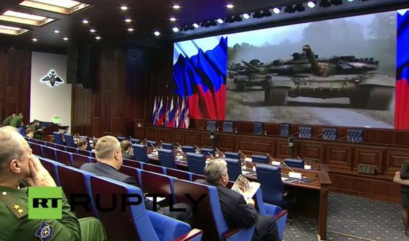 Putin heads Ministry of Defense Meeting