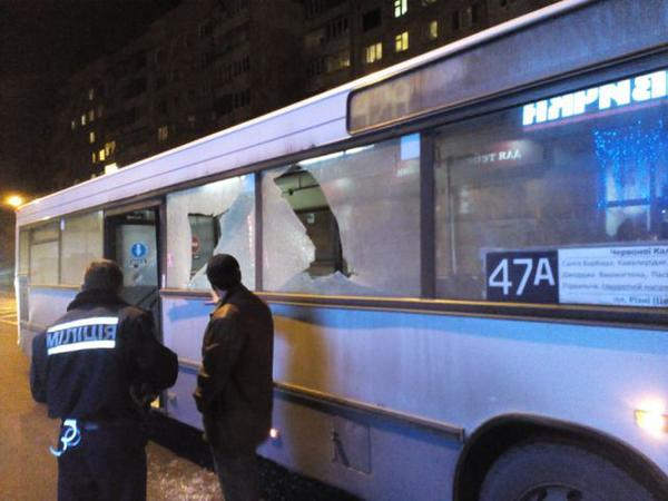 A bus with passengers was shot in Lviv
