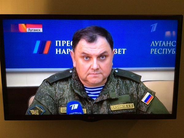 Major-General Alexander Vyaznikov, Russian Airborne Forces (VDV), in Luhansk