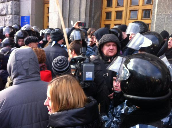Kharkiv. Police reinforcement arrived at city Council