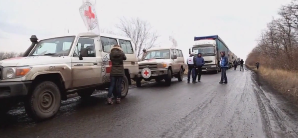 The 6th aid_convoy, sent in by the @ICRC, entered Luhansk from Ukraine