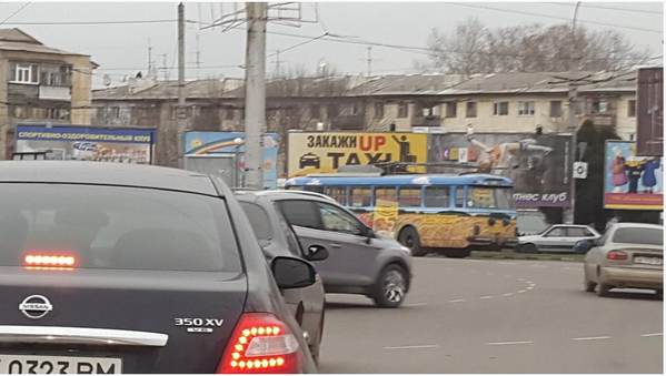 Trolleybuses are off in Crimea today, after Ukrainian electricity pulled