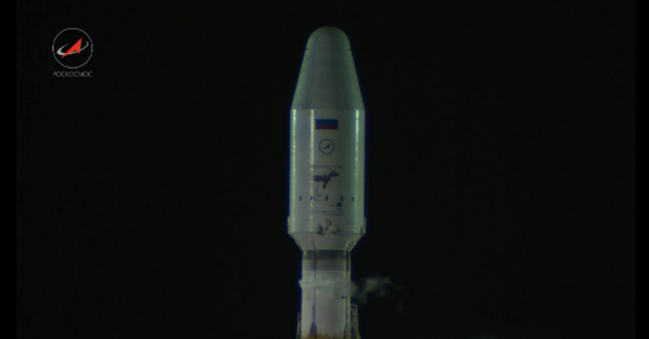 Soyuz rocket is set for liftoff at 1855 GMT (1:55pm EST) with an Earth observing craft