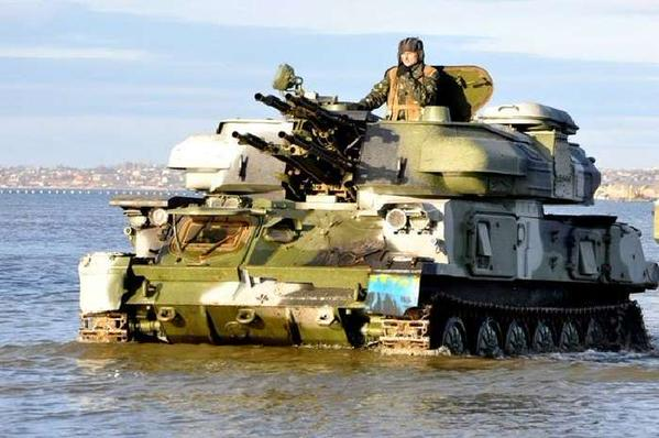 In Odessa Ukraine troops conduct exercises to repel invasion from sea