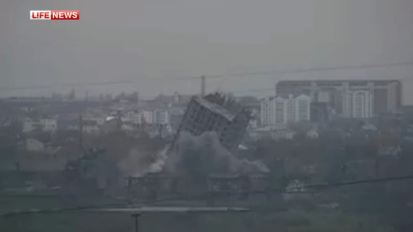 In Sevastopol.Unfinished 16-storey house was blown up with 3 attempt