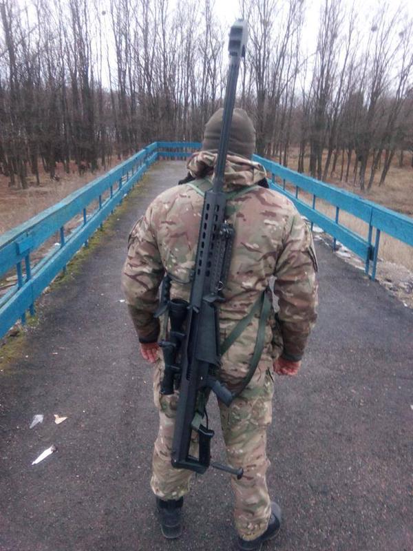 Ukrainian sniper with Barrett M82a3