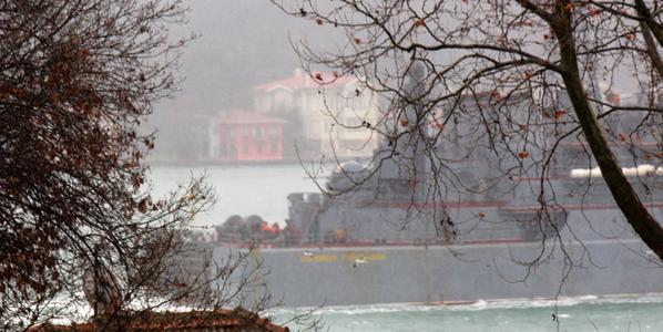 Aleksandr Otrakovski on the Bosphorus: Ropucha was 1of2ships leading the RFSvessels in the English Channel on27/11/14