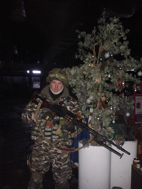Cyborgs Christmas tree in Donetsk airport