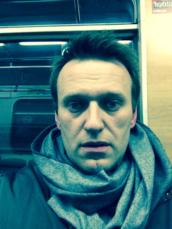 House arrest... But today I really want to be with you. So I'm coming too, - Navalny