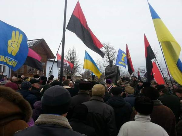 Rally in Staryi Uhruniv, dedicated to Bandera birthday