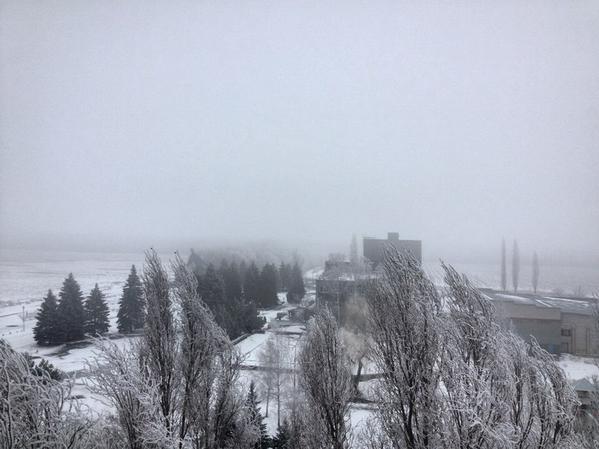 Avdiivka, dense fog
