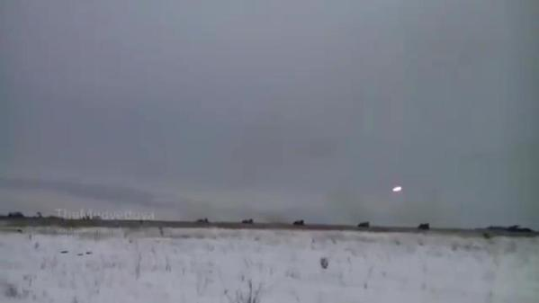 Putin's troops firing from MLRS BM-21 Grad, Luhansk.