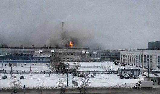 Izhevsk. Plant burning