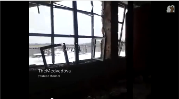 Russia militants in Donetsk Airport with shelling & explosions near New Terminal