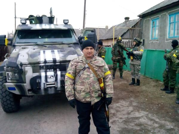Ukrainian troops in Trehizbenka.