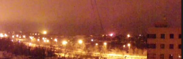 Fire in Donetsk getting bigger now, you hear cracking sounds like ammo exploding