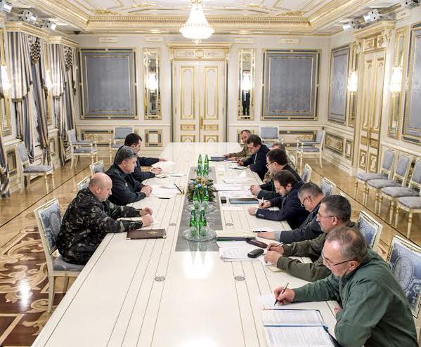 Poroshenko held a working meeting with heads of law enforcement agencies
