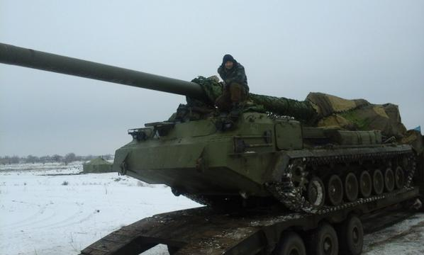 Ukrainian Artillery: The heavy howitzer 2S7 Pion (Peony) went to Luhansk.