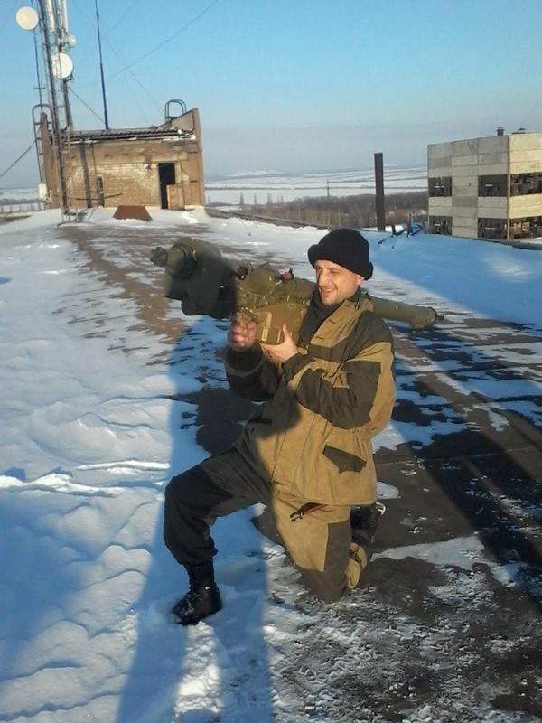 Militants and MANPAD SA-18 Grouse in Donetsk