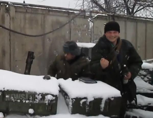 Russian militants fire mortars