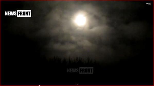 Pisky near Donetsk Airport an APC with ammunition burns