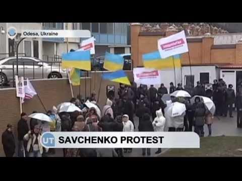 Protest in Odessa, Ukraine for Nadezhda Savchenko who is unlawfully imprisoned in Moscow.