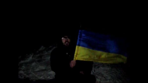 Russian man has established the Ukrainian flag in New year's eve at the highest point of the Crimea