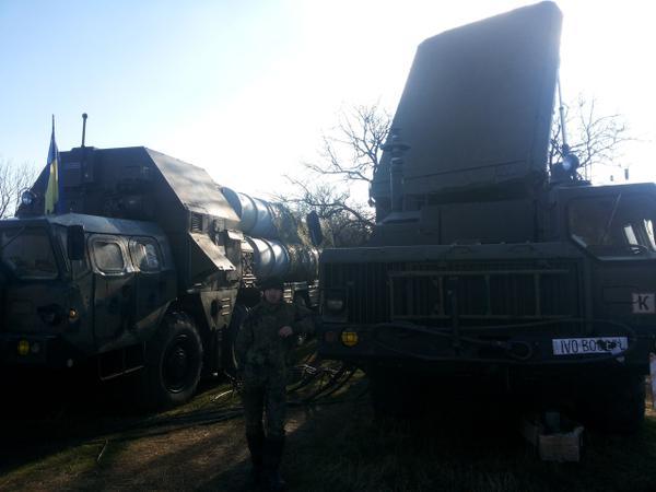 Ukrainian S-300(SA-20 Gargoyle) on combat positions.