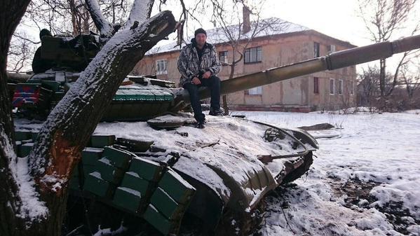 Militants tank near Horlivka yesterday
