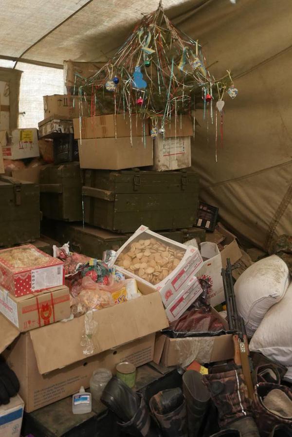 Christmas at frontline in Debaltseve
