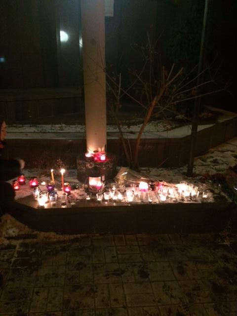 Kyiv stands with France CharlieHebdo